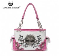 Fuchsia Western 'Tree Of Life' Handbag - TRR 8469