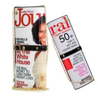 Beige Michelle Obama Magazine Clutch - H8327-70