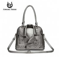 Pewter 'Cowgirl Trendy' Biker Jacket Handbag - BKT3 5385