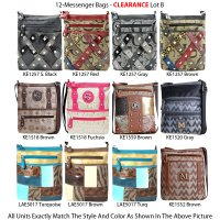 12-Messenger Bags - Clearance Lot B