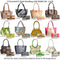 12-Bags G-Style Handbag with Wallet Sets - Lot B