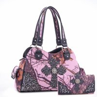 Black 'Mossy Pine' Handbag with Wallet - MT1-40022P-W0346 MP