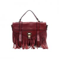 Red Fashion Fringe Messenger Bag - LS0334