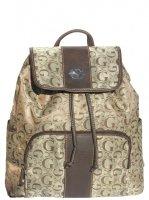 Brown G-Style Drawstring Backpack - K1488