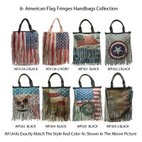 Special 8-American Flag Fringes Handbags Collection