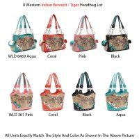 8 Western Indian Bennett / Tiger Handbag - WLD 8469-361