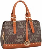 Brown Milan Satchel Designer Signature Satchel - MU6338