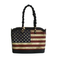 Black America Flag Handbag - US903