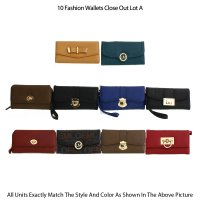 10 Fashion Wallets Close Out - Assorted Lot A