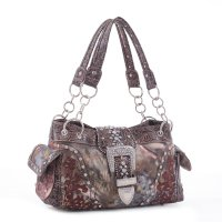 Coffee Western Camo Belt Buckle Handbag - KC1-40020P