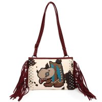 Burgundy Western 'Cowgirl' Messenger Bag - BOO6 5241