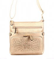 Gold Fashion Messenger Bag - LS0151-1