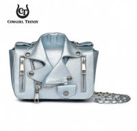 Teal 'Cowgirl Trendy' Biker Jacket Handbag - BKT3 5395