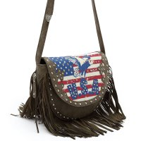 Sage Western US Flag & Eagle Crossbody Messenger Bag - AMF 5300
