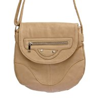 Beige Fashion Messenger Bag - 6836