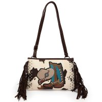 Brown Western 'Cowgirl' Messenger Bag - BOO6 5241