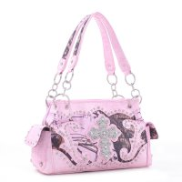 Pink 'Mossy Pine' Western Shoulder Handbag - MT1-53113 MP
