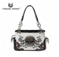 Black Western 'Tree Of Life' Handbag - TRR 8469