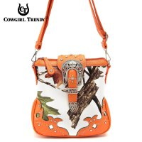 Orange Leaves & Tree Messenger Bag - WML2 200B