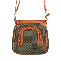 Tan Signature Inspired Messenger Bag - FM236