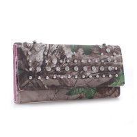Pink 'Real Tree' Tri-Fold Rhinestone Wallet RT1-51775 XG/PK
