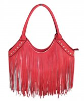 Red Fashion Fringe Tote Handbag - SS030