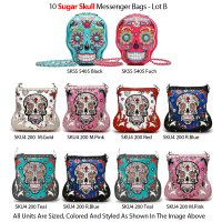 10 Sugar Skull Messenger Bags 'Calavera' Collection Lot B