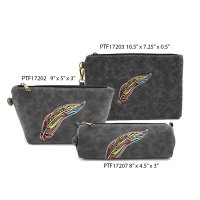 Black Makeup Wallet Pouch Bag Close Out - 3 piece Set