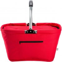 Red Collapsible Insulated Thermal Picnic Basket - ETPB