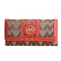 Red Signature Style Wallet - KW318