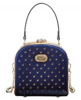 Royal Blue Shinny Twinkle Star Cute Boxy Clutch - RZS8866