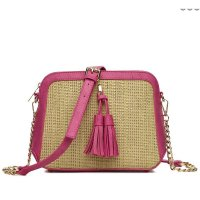 Fuchsia Hue & Ash Satchel Cute Messenger Bag - HNA 2544