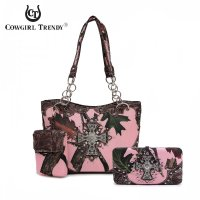 Brown Western Handbag & Wallet Set - PML75166C 4326C