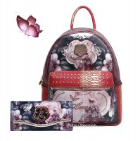 "Burgundy Arosa ""Queen Lady"" Backpacks & Wallet - BGB8318-BGW8682"