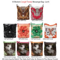10 Western Cowgirl Trendy Messenger Bags - Lot A