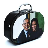 Black Michelle Obama Magazine Cover Cosmetic Case - PC0086-3
