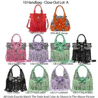 Special 12 Fashion Close Out Handbags - Lot A