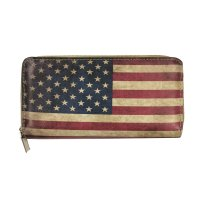 Black America Flag Wallet - YW019