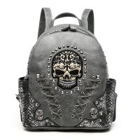 Gray 'Cowgirl Trendy' Sugar Skull Backpack - SKW3 5381