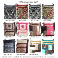 12 Messenger Bags Lot A