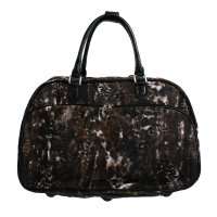Black Animal Print Duffle Bag - T-AC2520