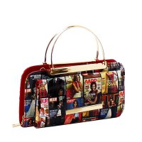 Red Fashion Hologram Magazine Messenger Bag - MB5013H RD