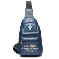 "Turq "" With God All Things Are Possible"" Backpack - BCU 5656"