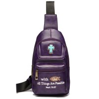 "Purple "" With God All Things Are Possible"" Backpack - BCU 5656"