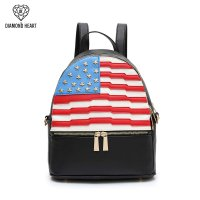 Black American Flag Fashion Backpack - DH 265