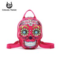 Fuchsia 3D Hardshell Box Sugar Skull Backpack - SKSB 5618