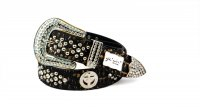 8-Pack Gold Cross Rhinestone Studded Belt - PTG106 BOX