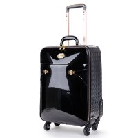 Black Tri-star Elegant Carry-On Luggage - KZL8899