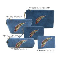 Navy Travel Makeup Wallet Pouch Bag Close Out - 5 piece Set