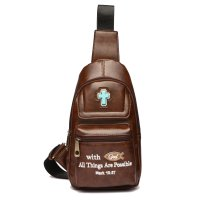 "Brown "" With God All Things Are Possible"" Backpack - BCU 5656"